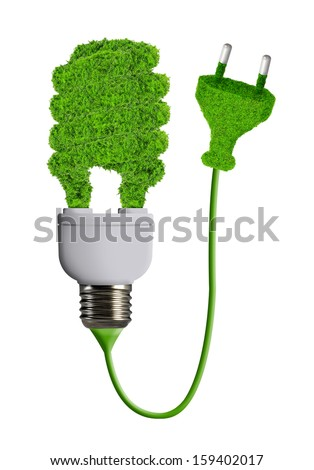 eco energy bulb isolated on white  - stock photo