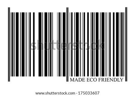 Eco Friendly Barcode on white background - stock photo