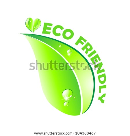 Eco friendly concept. Leaf on white background. - stock photo