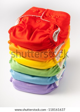 Eco friendly diapers - stock photo