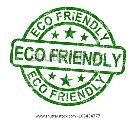 Eco Friendly Stamp As Symbol For  Recycling Or Nature - stock photo