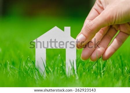 Eco, green, building. - stock photo