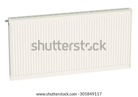 Eco heating radiator isolated on white background - stock photo