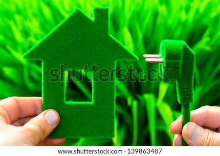 eco house concept - stock photo