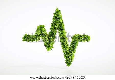 Eco life pulse sign - with included clipping path - stock photo