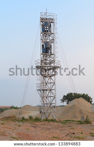 "Eco power, vertical axis wind turbines, ""VAWT"" - stock photo"