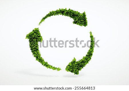 Eco sustainable development sign. Part of large set of high quality eco signs. - stock photo