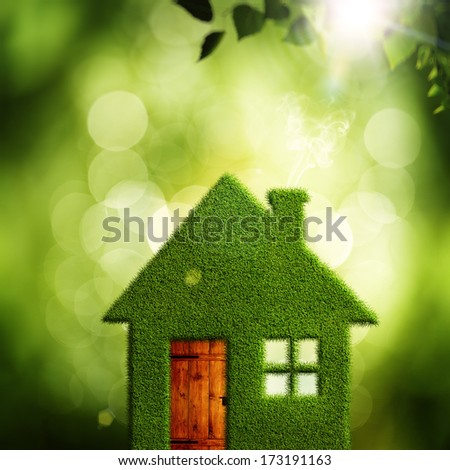 Eco Village, abstract environmental backgrounds for your design - stock photo