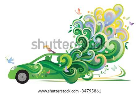 Ecologic Car - stock photo