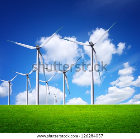 Ecological horizon - stock photo