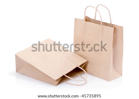 ecological paper bags - stock photo