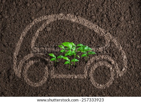 ecological transport or car concept - stock photo