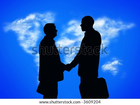 ecology agreement (special photo f/x ,silhouette made from my images) - stock photo