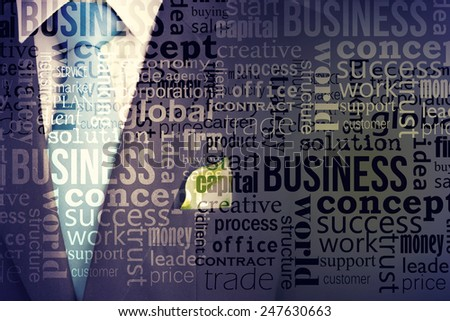 Ecology Concept Business Suit With Green Leave