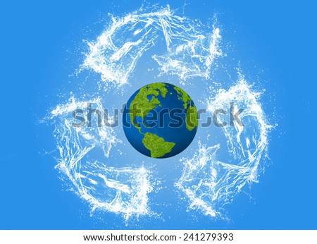 Ecology concept, eco, digital art - stock photo