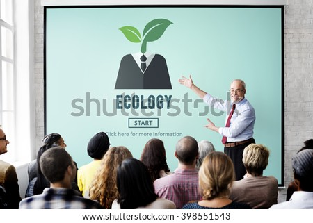 Ecology Conservation Energy Environmental Plant Concept - stock photo