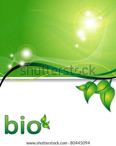 ecology green background - stock photo