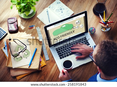 Ecology Innovation Environmental Conservation Go Green Invention Concept - stock photo