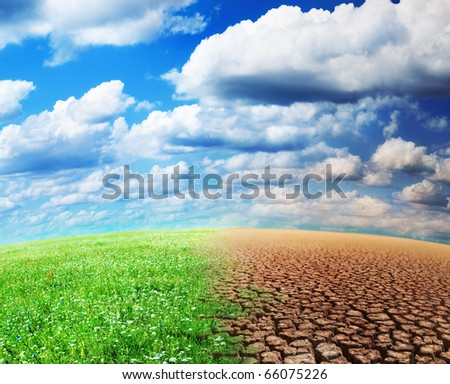 ecology landscape - stock photo
