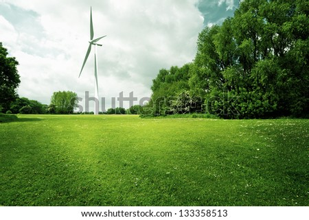 Ecology power - stock photo