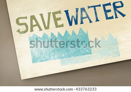 Ecology Water Conservation Sustainability Nature Concept - stock photo
