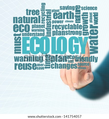 ecology word cloud - stock photo