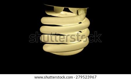 Economic and ecologic light bulb - stock photo