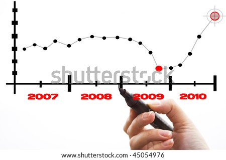 Economic Crisis. Business fall. Business concept. - stock photo