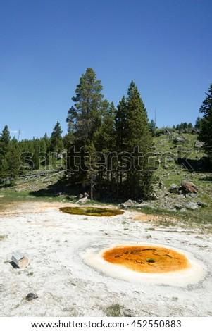 Economic Geyser, Upper Geyser Basin, Yellowstone National Park - stock photo