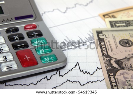 Economical Graph - stock photo
