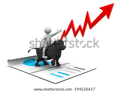 Economical stock market chart - stock photo