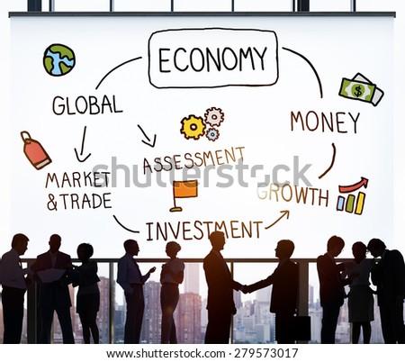 Economy Business Economic Business Marketing Concept - stock photo