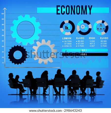 Economy Economic Global Business Financial Concept - stock photo