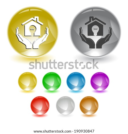 economy in hands.  interface element.  - stock photo