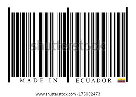 Ecuador Barcode on white background - stock photo