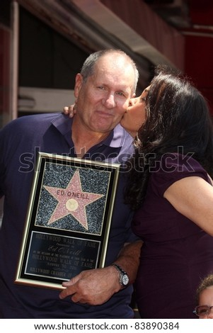 Ed O'Neill and family at the Ed O'Neill Hollywood Walk Of Fame Induction Ceremony, Hollywood, CA. 08-30-11 - stock photo