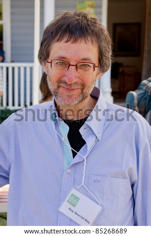 EDEN MILLS, ON - SEPTEMBER 18: Celebrated author Guy Gavriel Kay discusses his many international bestsellers at the annual Writers Festival in  Eden Mills, Ontario on September 18, 2011. - stock photo