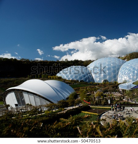 Eden Project in St. Austel, Cornwall, England. - stock photo