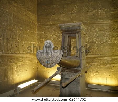 Edfu, Tomb of god Horus in the Temple of Horus, Egypt, UNESCO - stock photo