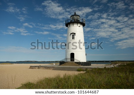 Edgartown Lighthouse,  Martha�´s Vineyard, New England, Massachusetts, USA, Leuchtturm Edgartown, Marthas Vineyard, Neu England - stock photo