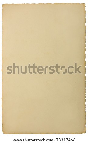 Edge Photo Back Vintage Background Texture, Isolated Reverse Side - stock photo