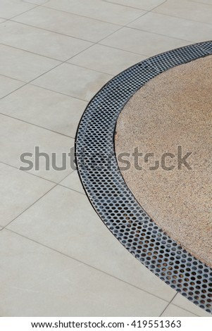 Edge Swimming pool at The south of Thailand - stock photo