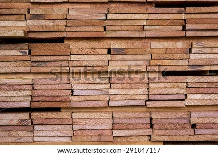 Edging board in stacks - stock photo