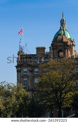 Edinburgh building - stock photo