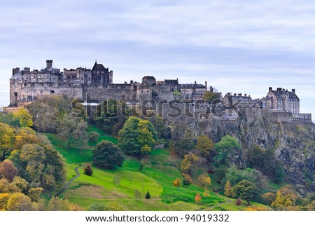 Edinburgh Castle, Scotland, United Kingdom - stock photo