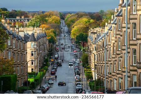 Edinburgh city view  - stock photo