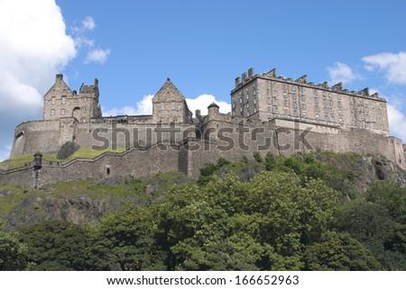 edinburgh medieval fortress - stock photo