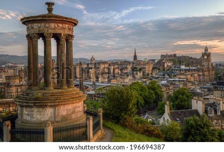 Edinburgh Panorama - stock photo