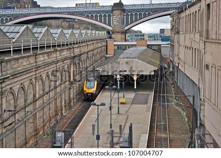 Edinburgh Waverley Station, Scotland - stock photo