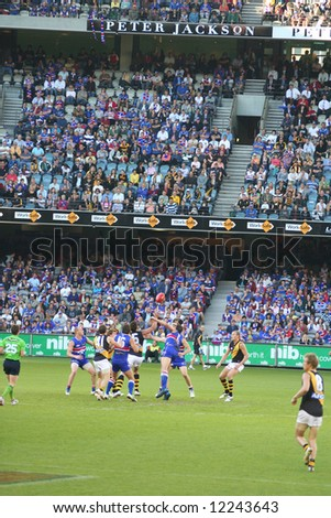 Editorial, Australian rules football Western bulldogs versus Richmond - stock photo